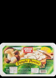 Sliced porcini mushrooms in tray - Asiago Food