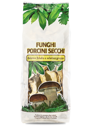 Dried porcini mushrooms Commercial Quality in bag - Asiago Food