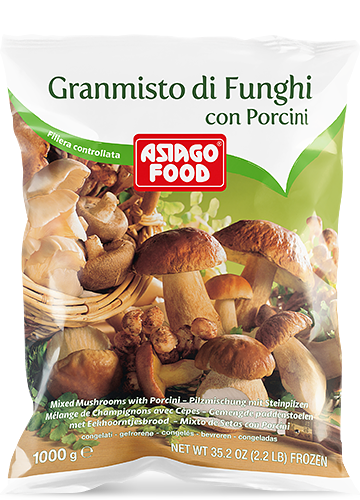 Mixed mushrooms with porcini 1000g - Asiago Food