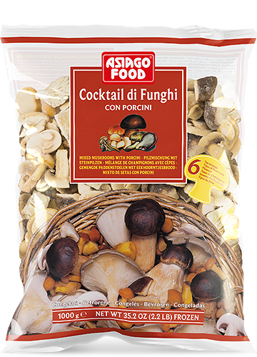 Mixed mushrooms – 6 types of mushrooms with porcini 1000g - Asiago Food