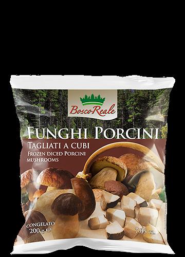 Funghi porcini tagliati a cubi 200g - Bosco Reale
