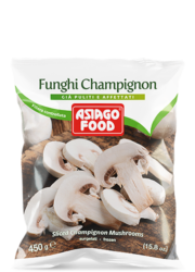 Sliced Champignon mushrooms - Asiago Food