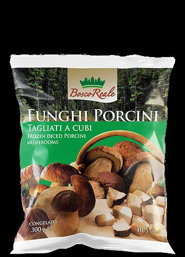 Funghi porcini tagliati a cubi 300g - Bosco Reale