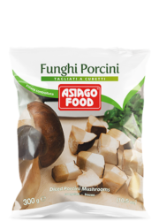 Diced porcini mushrooms 10.5 oz (300 g) - Asiago Food