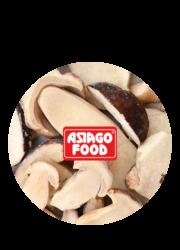 Porcini mushrooms cut in half - Asiago Food