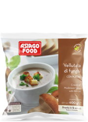 Cream of mushroom soup with porcini - Asiago Food