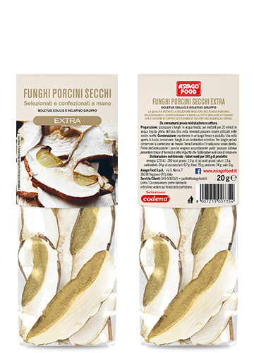 Dried porcini mushrooms Extra Quality 20g - Asiago Food