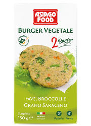 Burger vegetale fave, broccoli e grano saraceno - Asiago Food