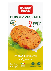 Burger vegetale farro, peperoni e quinoa - Asiago Food