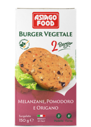 Aubergine, tomato and oregano Veggie Burger - Asiago Food