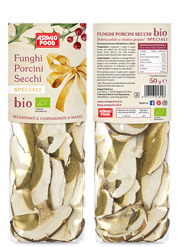 Funghi porcini secchi Bio Speciali confezione Natale 50g - Asiago Food
