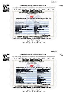 Certificazione Kosher Asiago Food 1-2.