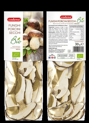 Organic dried porcini mushrooms Special Quality 30g - Codena