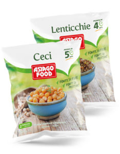 confezione ceci e lenticchie surgelate Asiago Food