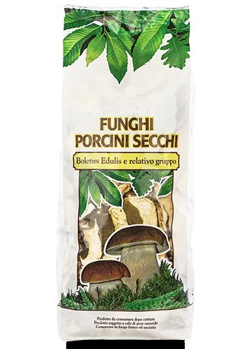 Sacchetto funghi porcini secchi Commerciali 500g - Asiago Food