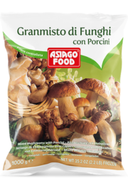 Mixed mushrooms with porcini - Asiago Food