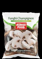 Sliced Champignon mushrooms - Asiago Food