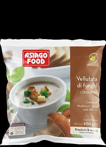 Vellutata di funghi con porcini 600g - Asiago Food