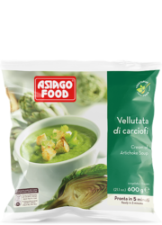 Cream of artichoke soup - Asiago Food