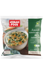Black kale, chickpea and cannellini bean soup - Asiago Food