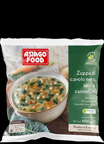 Zuppa di cavolo nero, ceci e fagioli cannellini 600g - Asiago Food