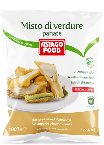 Misto di verdure panate 1000g - Asiago Food