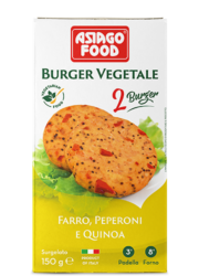 Emmer wheat, peppers and quinoa Veggie Burger - Asiago Food