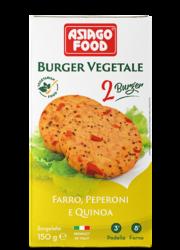 Burger vegetale farro, peperoni e quinoa - Asiago Food