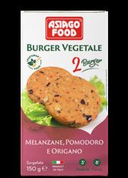 Burger vegetale melanzane, pomodoro e origano - Asiago Food