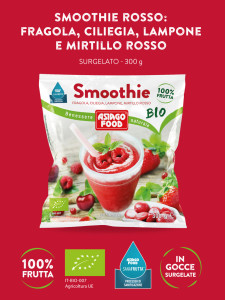 Smoothie surgelato ai frutti rossi: naturale, biologico, sicuro, pratico.