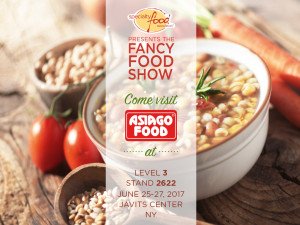 Summer Fancy Food Show 2017, Asiago Food allo stand 2622 level 3.