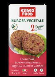 Lentil, red beet, quinoa and hemp seed Veggie Burger - Cuor di bontà