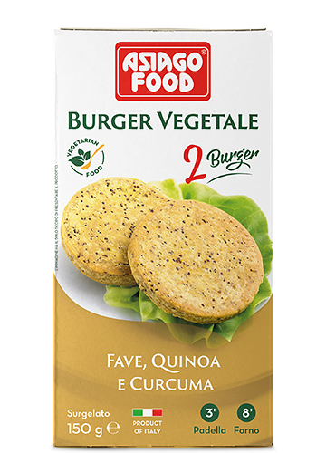 Burger vegetale fave, quinoa e curcuma 150g - Cuor di bontà