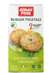 Broad bean, black bean and broccoli Veggie Burger - Cuor di bontà
