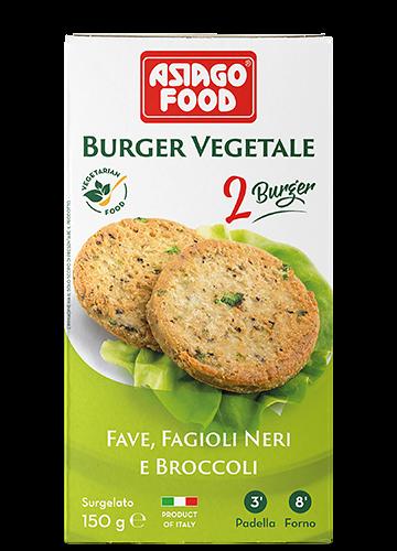 Broad bean, black bean and broccoli Veggie Burger 150g - Cuor di bontà